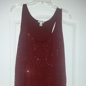 Red Sequined Tank top